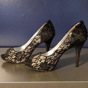 Rampage Lace Heels - Size 8